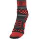 Compressport Racing V2 Trail juoksusukat , punainen/musta
